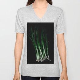 Green onion Unisex V-Neck