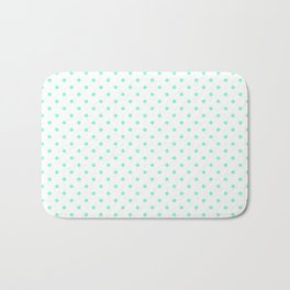 Dots (Aquamarine/White) Bath Mat