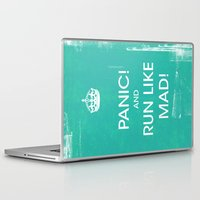 panic at the disco Laptop & iPad Skins featuring PANIC by Vin Zzep