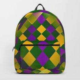 Harlequin Mardi Gras pattern Backpack