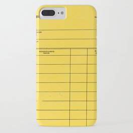 Library Card BSS 28 Yellow iPhone Case