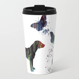 Beagle And Butterflies Travel Mug