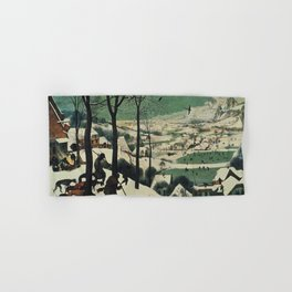 HUNTERS IN THE SNOW - BRUEGEL Hand & Bath Towel