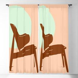 Kofoed Larsen Shell chair Blackout Curtain