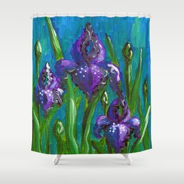 Iris by Mary Bottom Shower Curtain