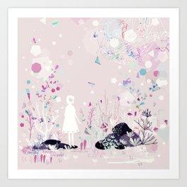 geometric rain Art Print