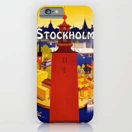 Vintage Stockholm Sweden Travel iPhone Case