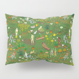 Naked Gardening Day Pillow Sham