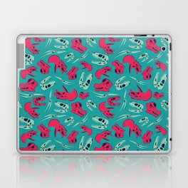 Skull Roll - Teal & Red Laptop & iPad Skin