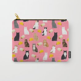 Cat breed tacos and burritos cute kitty lover pet gifts must have mexican food night Carry-All Pouch