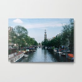 Down the Canal Metal Print