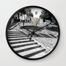 LAUNDRY IN LISBON (PORTUGAL) Wall Clock