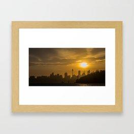 Sunset in Sydney (Australia) Framed Art Print