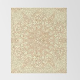 Gloria Tumbleweed Mandala With Corn Field Backdrop Throw Blanket