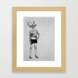 . antler . Framed Art Print