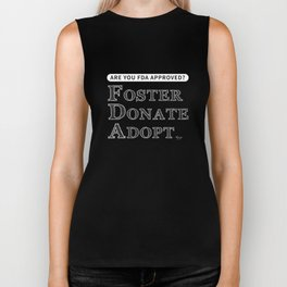 Are You FDA Approved? white text Biker Tank