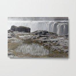 Selfoss waterfall in Iceland - nature landscape Metal Print