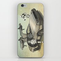 delorean iPhone & iPod Skins featuring Lost, searching for the DeathStarr _ 2 Stormtrooopers in a DeLorean  by Vin Zzep
