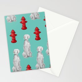 HYDRANTS AND WEIMARANERS Stationery Cards