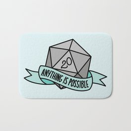 Anything is Possible D20 Bath Mat