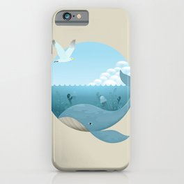 Whale & Seagull (US and THEM) iPhone Case