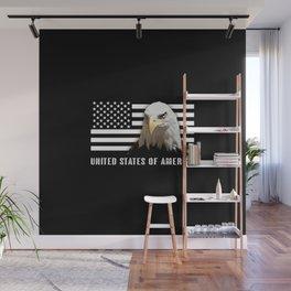 Bald Eagle & US Flag Wall Mural
