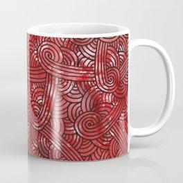 Red and black swirls doodles Coffee Mug