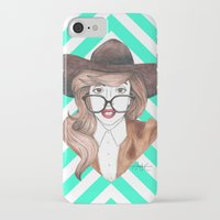 nerd iPhone & iPod Cases featuring Nerd by Andres Estrada