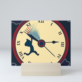 Trying to stop time Mini Art Print