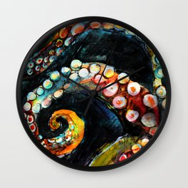 Tentaces in the Darkness Wall Clock
