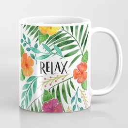 Relax - Tropical Watercolor floral Coffee Mug