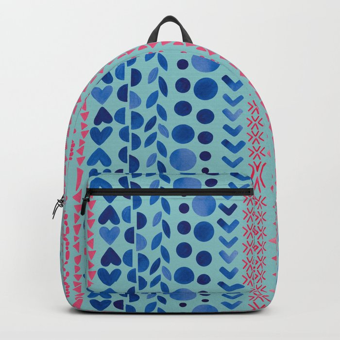 Watercolour Shapes - Magic Villa Backpack