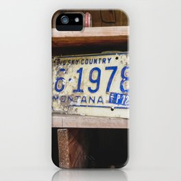 Lonely License Plate iPhone Case