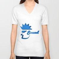 sound V-neck T-shirts featuring Sound by Zeep Design