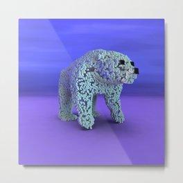 Ice Cube Bear Metal Print