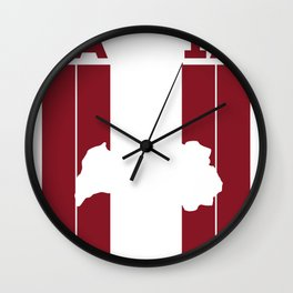 latvia Country and Flag Wall Clock