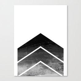 Black Ombre Chevron Canvas Print