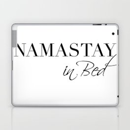 namastay in bed Laptop & iPad Skin