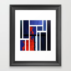 Blue Me Orange Framed Art Print