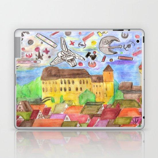1561 Aerial Battle Over Nuremberg Reimagined from Kaiserberg Laptop & iPad Skin