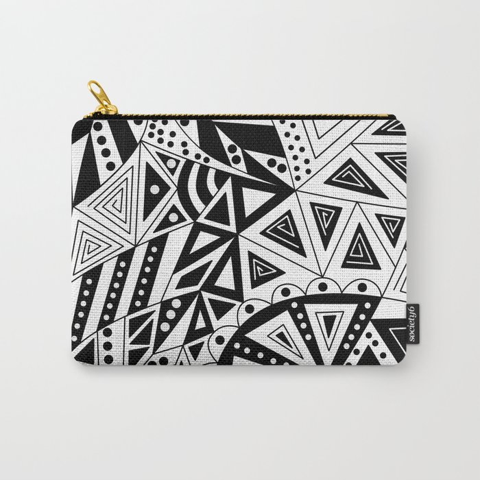 Black and white abstract pattern. Carry-All Pouch