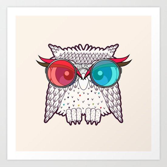 Owl - Owl Art Print
