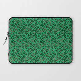 Greenery Green and Beige Leopard Spotted Animal Print Pattern Laptop Sleeve