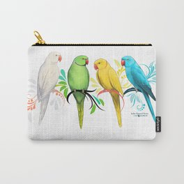 Indian Ringneck Parrots Carry-All Pouch