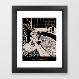14. TEMPERANCE Framed Art Print