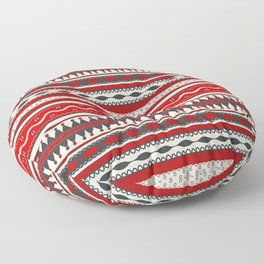 Traditional Romanian embroidery seamless pattern design Floor Pillow