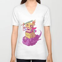 finn and jake V-neck T-shirts featuring Finn and Jake by Mike Wrobel