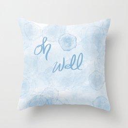Oh Blue Throw Pillow