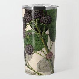 Vintage Painting of Blackberries Travel Mug