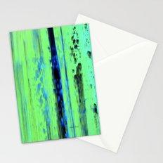 Gerhard Richter Inspired Urban Rain 2 - Modern Art Stationery Cards